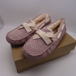 UGG Dakota Sunshine Moccasin Slippers Dusty Rose 8